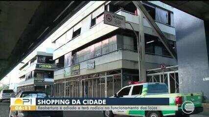 Shopping da Cidade, em Teresina, retorna a funcionar com revezamento de lojas