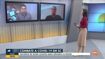 Secretário da Saúde de SC comenta ações de combate ao coronavírus no estado