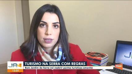 Bom Jardim da Serra vai reabrir pontos turísticos na quinta-feira