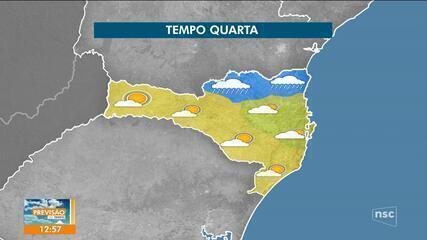 Confira a previsão do tempo em Santa Catarina