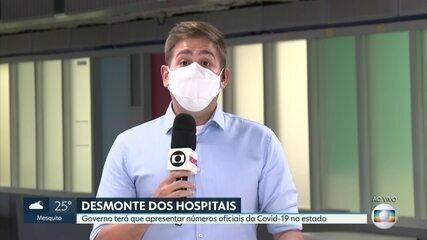 Governo terá que apresentar números da Covid-19 para poder fechar hospitais