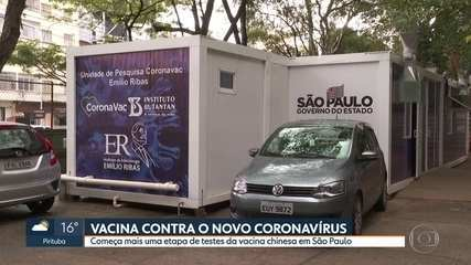 Começa testagem da vacina Coronavac em funcionários do Hospital Emílio Ribas