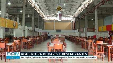 Restaurantes e bares fazem parte da 2º fase de reabertura do comércio de Salvador