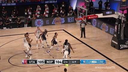 Melhores momentos: New Orleans Pelicans 104 x 106 Utah Jazz, pela NBA