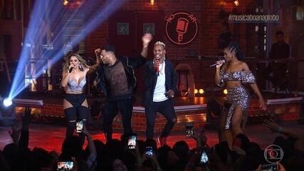 Iza, Lexa, Parangolé e MC Kekel cantam 'Não Quero Dinheiro'
