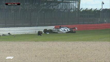 Kvyat sofre forte acidente durante o GP da Inglaterra