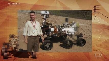 Conheça brasileiro que faz parte de missão da Nasa que leva drone à superfície de Marte