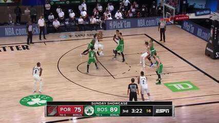 Melhores momentos de Boston Celtics 128 X 124 Portland Trail Blazers pela NBA