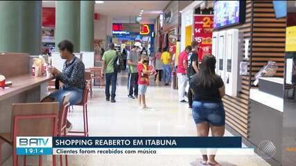 Covid-19: Shopping de Itabuna, no sul do estado, reabre após mais de quatro meses fechados