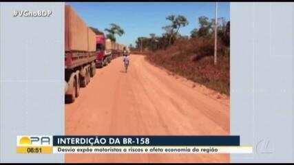 Interdição da BR-158 expõe motoristas a riscos e afeta economia da região