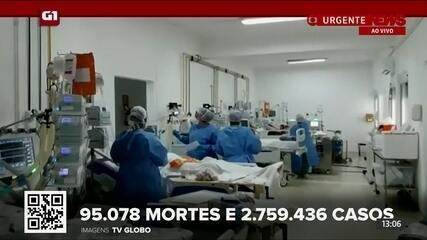 G1 em 1 Minuto: Brasil tem 95.078 mortes e 2.759.436 casos de coronavírus de Covid-19