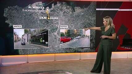 Veja antes e depois de ruas em Beirute