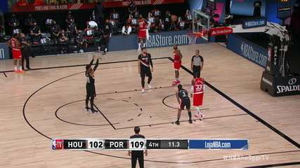 Melhores momentos: Portland Trail Blazzers 110 x 102 Houston Rockets, pela NBA