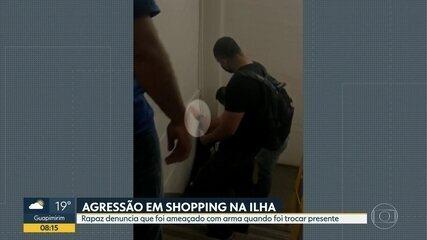 Jovem é atacado por seguranças em shopping center na Ilha do Governador