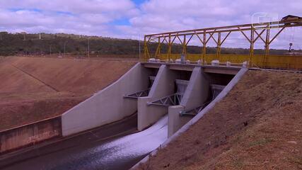 Lago Paranoá com sinais da seca em agosto de 2020
