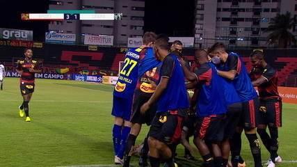 Os gols de Sport 3 x 2 Ceará pela 1ª rodada do Brasileirão 2020