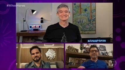 Zezé Di Camargo e Luciano relembram surpresa no palco do Altas Horas