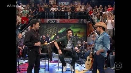Serginho relembra Luan Santana cantando sucessos de Zezé Di Camargo & Luciano