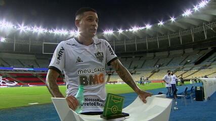 Eleito craque do Jogo, Guilherme Arana enaltece postura do Atlético-MG diante do Flamengo