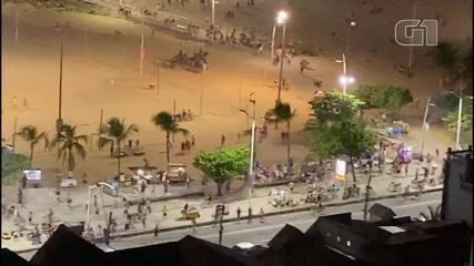 Tumulto provoca correria na orla da Praia de Iracema, em Fortaleza