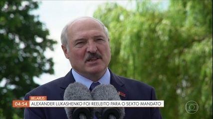 Presidente de Belarús é reeleito para um sexto mandato