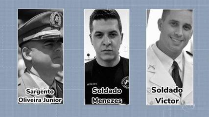 Corpos dos três PMs mortos em abordagem a falso policial civil são enterrados