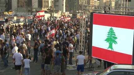 Beirute tem homenagem às vítimas da explosão