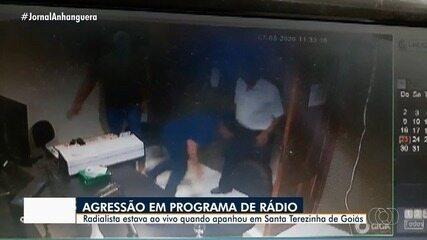 Radialista é agredido durante entrevista na rádio em Santa Terezinha de Goiás