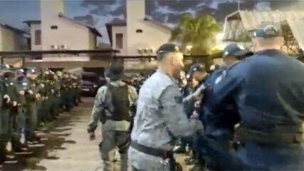 Vídeo mostra policiais aglomerados e sem máscara em curso de formação de sargentos em MS