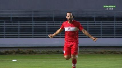 Gol do CRB! Léo Gamalho aproveita gol livre e abre o placar, aos 33 do 2º Tempo