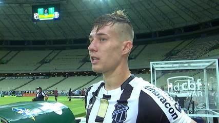 """Charles fala sobre queda de ritmo do Ceará no segundo tempo: """"Sentimos um pouco mais no final """""""