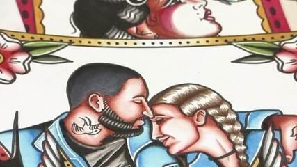 Tatuadora faz retratos personalizados para recuperar faturamento durante a pandemia