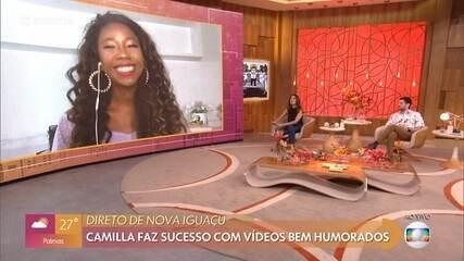 Camilla de Lucas faz sucesso com vídeos bem-humorados