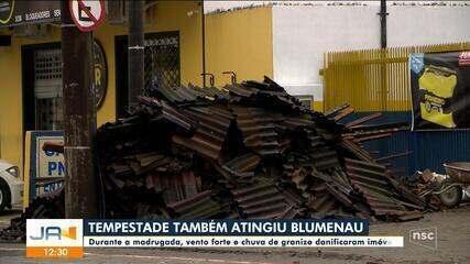 Tempestade atinge Blumenau e causa prejuízos