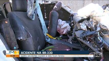 Quatro pessoas morrem em acidente na BR-230 em Riachão
