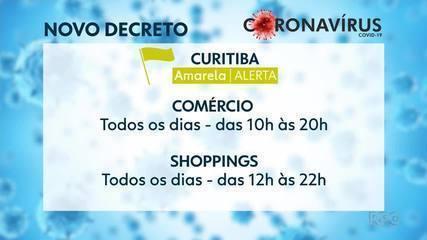 """Novo decreto municipal estabelece """"bandeira amarela"""" em Curitiba"""