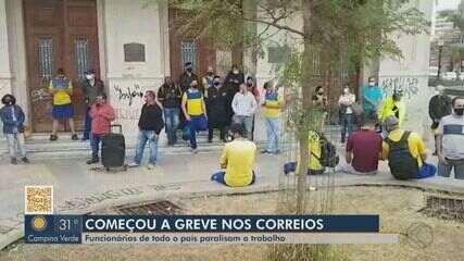 Funcionários dos Correios entram em greve em Juiz de Fora