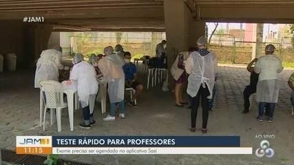 Em Manaus, professores realizam testes rápidos para Covid-19