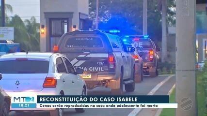 Reconstituição da morte de Isabele Ramos é realizada na casa onde adolescente morreu