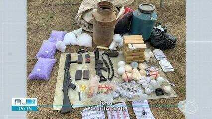 Suspeito de tráfico é preso com quase de 30 kg de drogas e fuzis em Volta Redonda