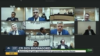 CPI dos respiradores: relatório final pede impeachment do governador de SC