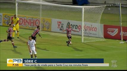Santa Cruz 3 x 2 Treze, pela rodada #2 da Série C do Brasileiro