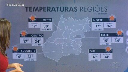 Frente fria pode derrubar temperaturas em Goiás