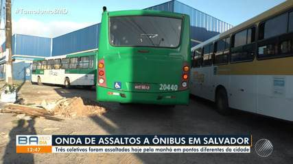 Três ônibus são assaltados na manhã desta quinta; pasageiros falam sobre medo dos bandidos