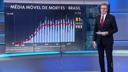 Brasil registra 1.031 mortes nas últimas 24 horas; número de casos chega a 3.536.488