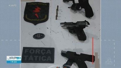 Revólver e 2 pistolas são apreendidas pela Força Tática na Zona Sul de Macapá