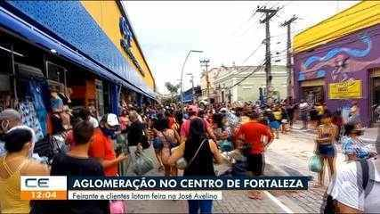 Feirantes e clientes lotam feira na José Avelino