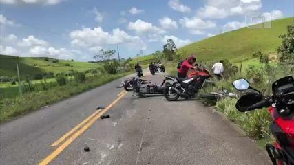 Vídeo mostra momento do acidente na PE-96, em Água Preta