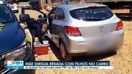 Mulher é presa ao dirigir embriagada na BR-153, em Uruaçu