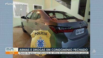 Polícia prende morador de condomínio de luxo em Feira de Santana com armas e drogas